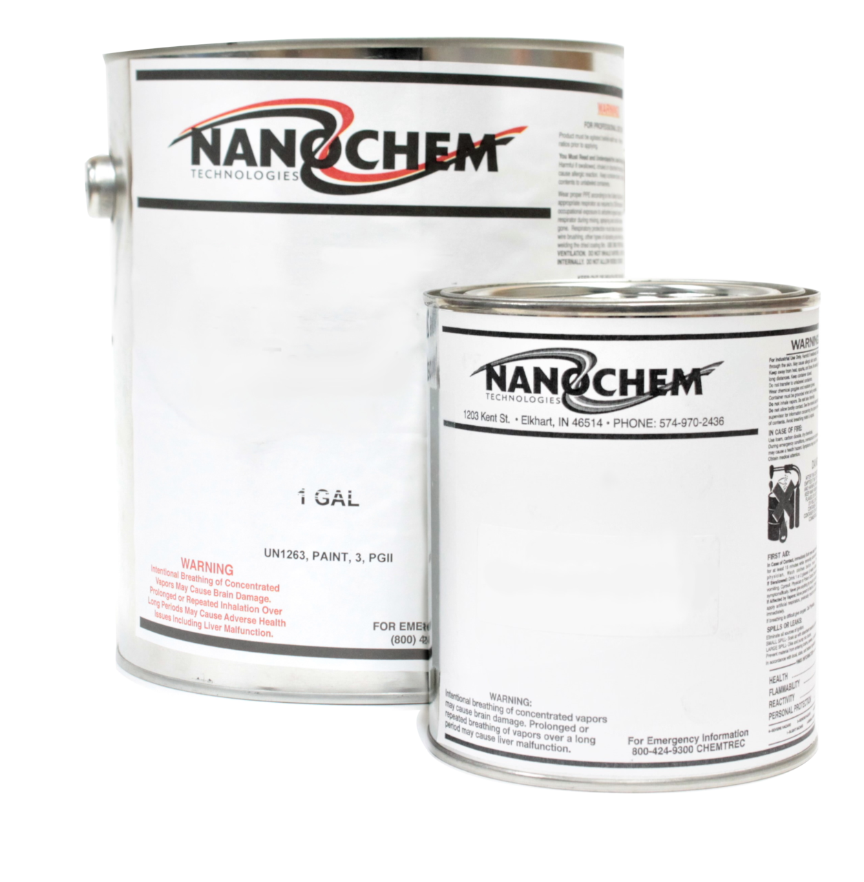 Cans of nanochems fireproof wood protectant